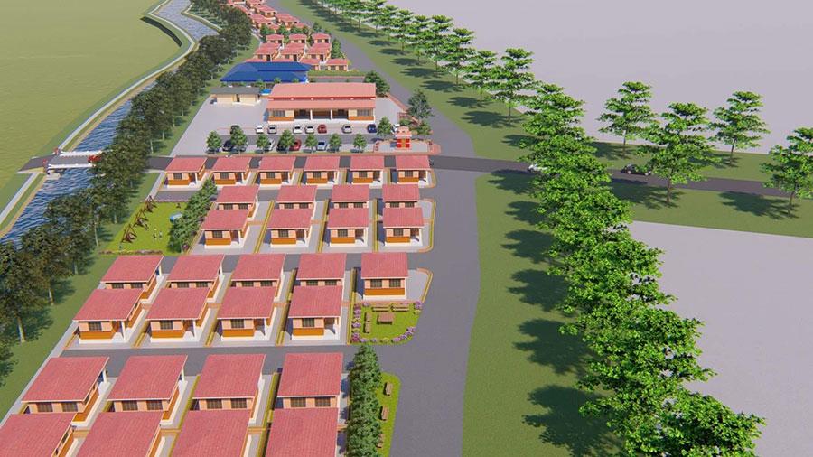 मोरङको उर्लावारीमा सन्थाल जातिको एकीकृत बस्ती निर्माण हुदैं, प्रधानमन्त्रीले शिलान्यास गर्ने