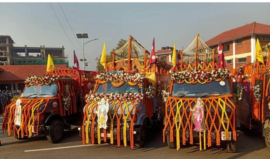 परशुराम कुण्डको जलले जलाभिषेक गरी राम-सीताका मूर्ति अयोध्याधाममा स्थापना गरिँदै