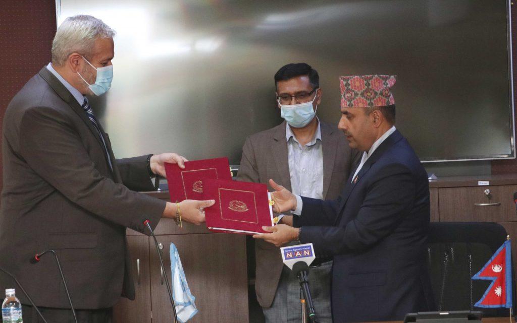 कोभिड-१९ को खोपका लागि नेपाल सरकार र विश्व बैंकबीच ८ अर्ब ७० करोड रुपैयाँ बराबरको वित्तीय सम्झौतापत्रमा हस्ताक्षर