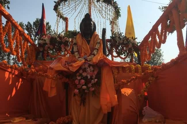 धुमधामका साथ माडीमा भगवान राम, सीता, लक्ष्मण र हनुमानको मुर्ती राखियो