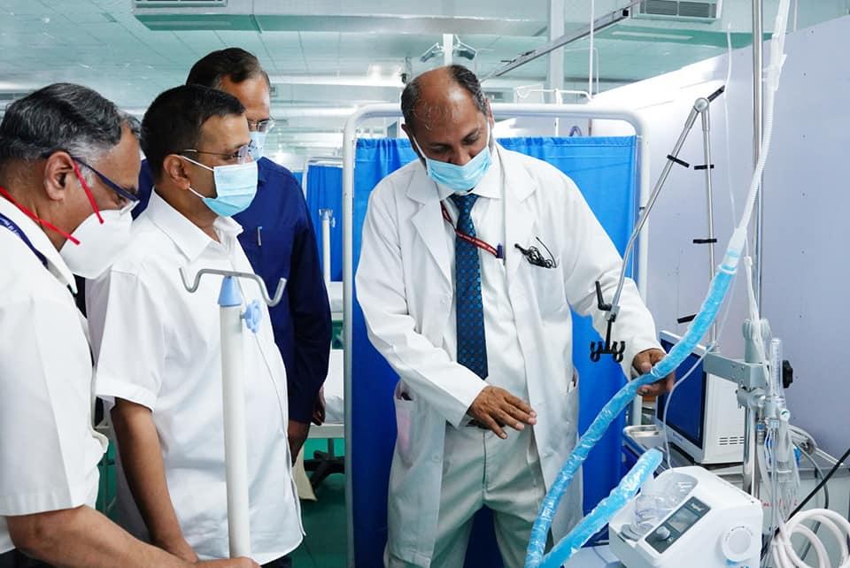 केन्द्रले वास्ता नगरेपछि दिल्ली सरकारले खाली चौरमा बनायो १५ दिनमा  ५ सय शय्याको आईसीयू सहितको अस्पताल