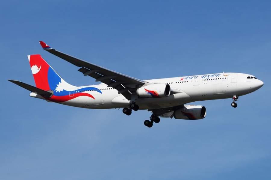 नेपाल एयरलाइन्स वाइड बडी जहाज अक्सिजन सिलिण्डर ओसार्न भ्याइनभ्याइ,ओमानबाट आउने आजै बेइजिङ उड्ने