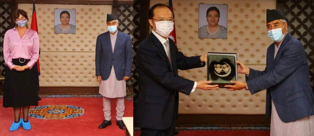 प्रधानमन्त्री देउवासँग अष्ट्रेलिया र जापान राजदुतको भेट