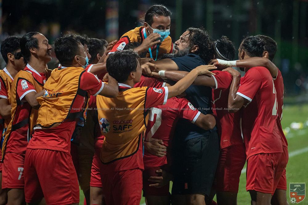 नेपालले श्रीलंकालाई ३-२ गोलले हरायो